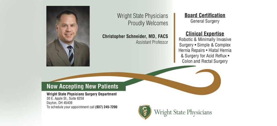 Dr. Christopher Schneider, M.D., F.A.C.S. is now accepting new patients