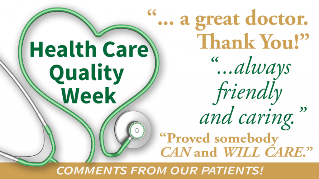 Quality Care and a Positive Patient Experience is Important to Us!